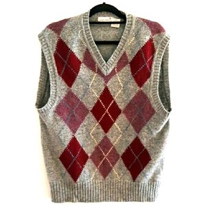 Vintage Wool argyle sweater vest